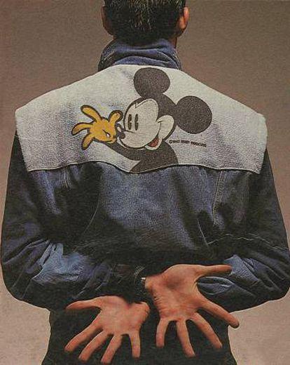 Imagen del lanzamiento de la primera prenda de Desigual en 1984.