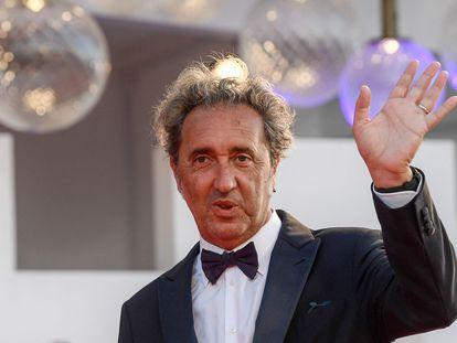 Paolo Sorrentino, a su llegada a la proyección de su película en la Mostra de Venecia, este jueves.