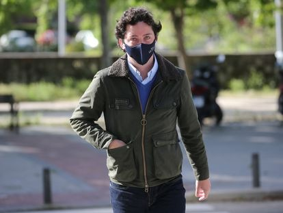 Francisco Nicolás Gómez Iglesias, conocido como 'El Pequeño Nicolás', a su llegada a la Audiencia Provincial de Madrid, el 12 de mayo de 2021.