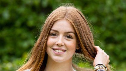 La princesa Alexia de los Países Bajos posando para los medios el pasado 16 de julio.