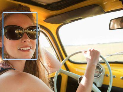 Imagen difundida por Amazon sobre su programa de reconocimiento facial.