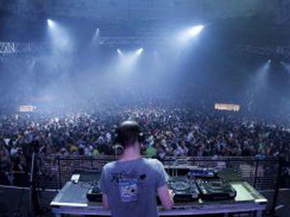 Concierto multitudinario en el Palacio de Vistalegre en Año Nuevo de 2011.