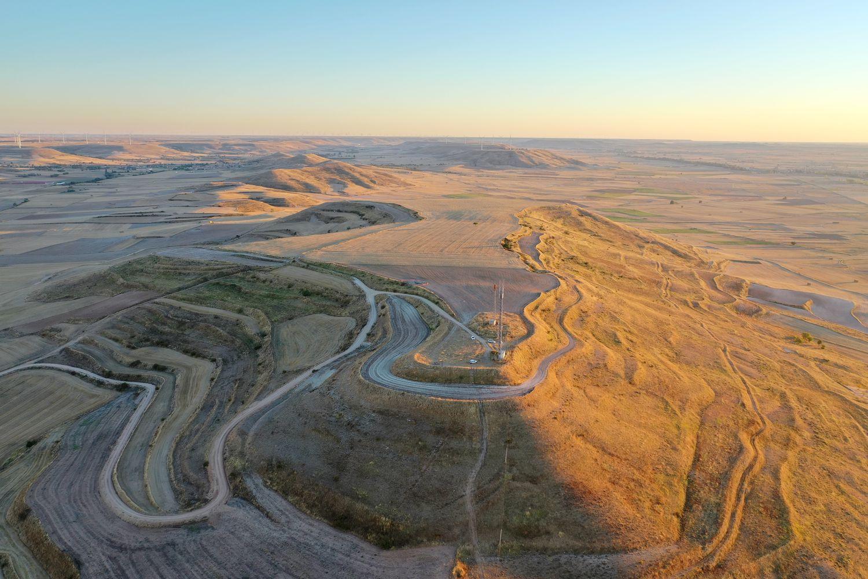 Cerro Castarreño donde se ubican los restos del 'oppidum' celta de Olmillos de Sasamón.