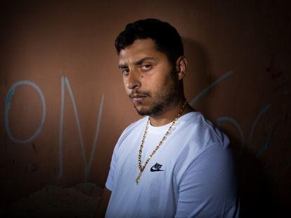 Dollar Selmouni retratado en su barrio de Palma el 9 de julio pasado.