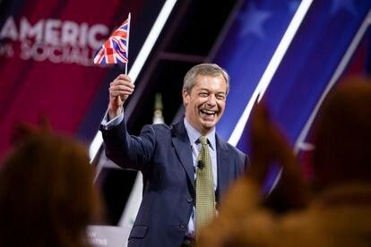 Nigel Farage, exlíder del Partido de la Independencia del Reino Unido (UKIP), en una conferencia conservadora en Florida (EE UU) en febrero de 2020.