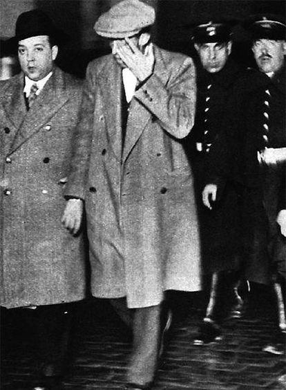 Felipe Sandoval, tras su detención en Madrid en 1932.