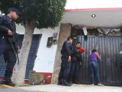 Madres de niños víctimas de un 'secuestro virtual' en Morelos (México).