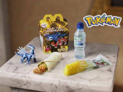 Imagen de lanzamiento del primer menú infantil vegetariano de la cadena de comida rápida.