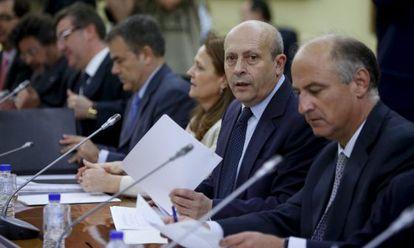 El ministro de Educación José Ignacio Wert, al inicio de la reunión.