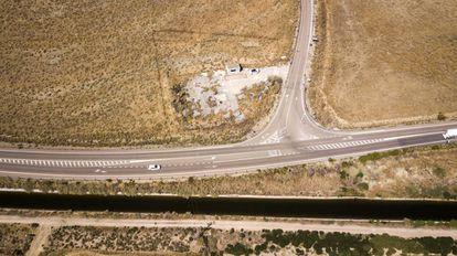 Una de las zonas, en la provincia de Toledo, en las que se enterraron los residuos del accidente de 1970. Es la banqueta número cuatro.