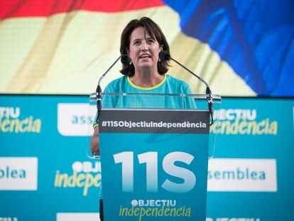 Elisenda Paluzie, presidenta de la ANC, en una Diada anterior.