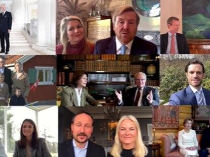 Los miembros de distintas casas reales europeas, en el vídeo sorpresa de felicitación a Margarita de Dinamarca por su 80º cumpleaños