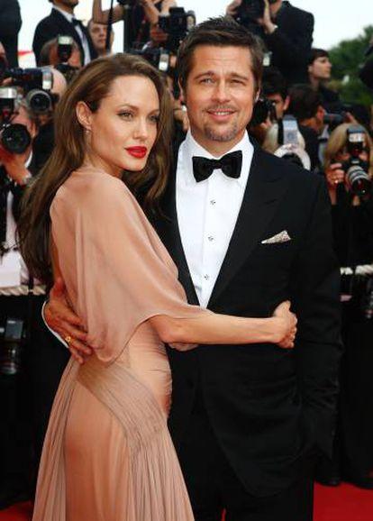 Brad Pitt y Angelina Jolie en el estreno de 'Malditos bastardos' en el Festival de Cannes en 2009. Se separaron en 2016.
