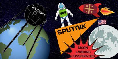 Ilustración del pasado julio del grupo UE vs Disinfo sobre la propaganda de medios rusos en el 50º aniversario de la llegada del hombre a la Luna.