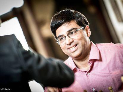 Vishy Anand, durante el torneo de Lovaina (Bélgica) en 2018
