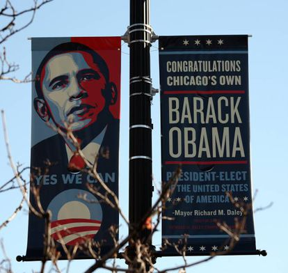 Cartel electoral de Barack Obama.