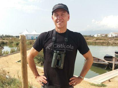 El ornitólogo sueco Per Alström en el Delta Birding Festival.