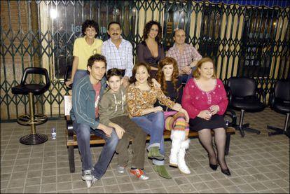 Los protagonistas de 'Aída', en la presentación de la cuarta temporada de la serieen 2007.
