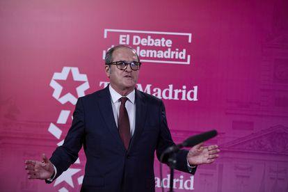 Ángel Gabilondo (PSOE), antes del debate.