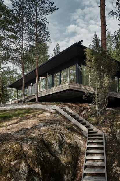 Exterior de VillaRauhanniemi, diseño de Laajisto.