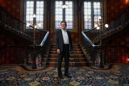 Pascal Soriot, consejero delegado de Astrazeneca, durante una entrevista concedida a Bloomberg en Londres en 2018.