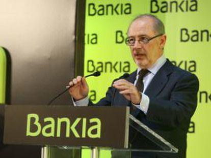 El Presidente de Bankia, Rodrigo Rato.