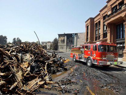 La sede de Universal Music en Hollywood ardió en 2008.