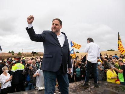 Oriol Junqueras, al salir de la prisión de Lledoners el pasado 23 de junio.