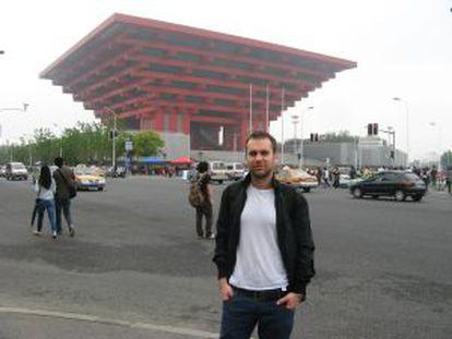 Javier Paz en Shanghái.