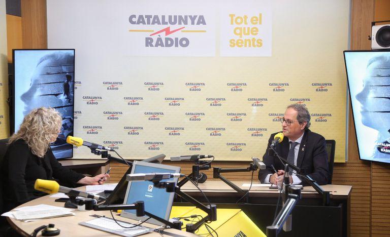 Torra, entrevistado en Catalunya Ràdio por Mònica Terribas.
