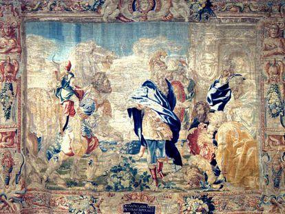 Uno de los 23 tapices que tiene la asociación, cuyo cartón dibujó Rubens.