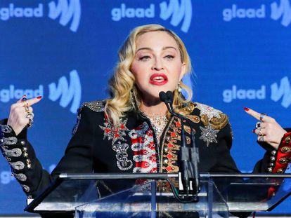 Madonna en Nueva York el mes pasado