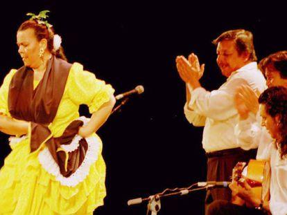 Juana la del Revuelo, durante una actuación en el Festival de las Minas, en La Unión.