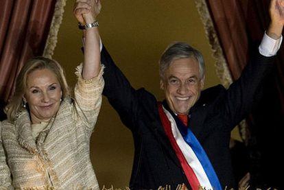 Sebastián Piñera en su toma de posesión.