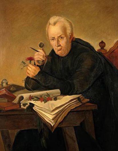 Retrato del botánico José Celestino Mutis.