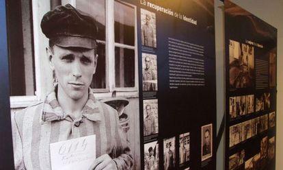 Imagen de la exposición sobre Mauthaussen en Ontinyent.