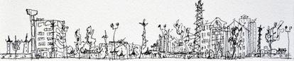 Boceto del estudio de arquitectura ganador del premio ONU-Habitat.