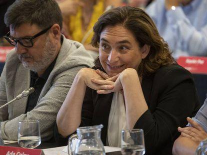 Ada Colau, este jueves en Barcelona.