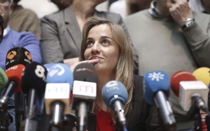 Tania Sánchez, hoy durante una rueda de prensa.