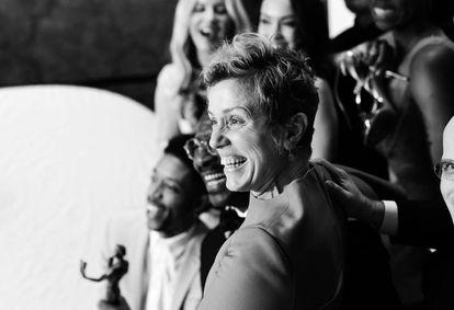 El 21 de enero, en la gala de premios del Sindicato de Actores, en Los Ángeles.