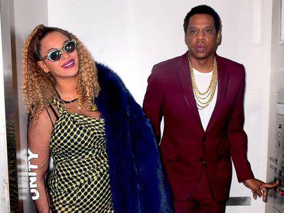 Jay-Z y Beyoncé, en Nueva York en diciembre de 2017.