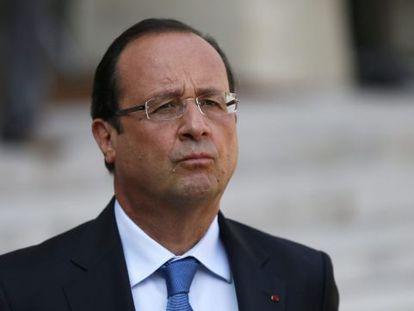 François Hollande, este jueves en el Elíseo.