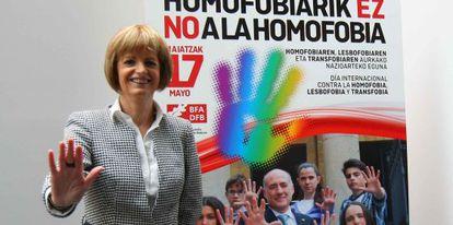 La diputada de Acción Social Pilar Ardanza en la presentación de la campaña.