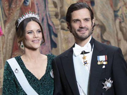Los príncipes Carlos Felipe y Sofía de Suecia, en Estocolmo, el pasado noviembre.