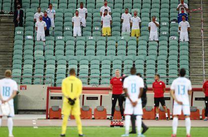 Instantes previos al inicio del Azerbaiyán-Luxemburgo, en Bakú, de la Liga de las Naciones el pasado 5 de septiembre.