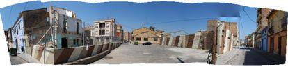 Imagen de una calle antes de la realización del proyecto.
