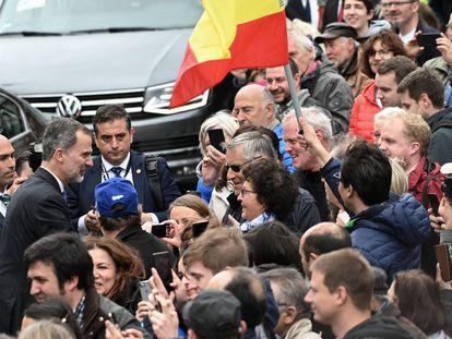El Rey, el pasado 30 de junio en Aquisgrán (Alemania), tras la entrega del premio Carlomagno.
