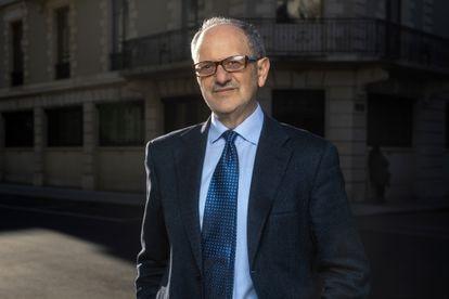 El físico Guido Tonelli, en Ginebra este pasado mes de marzo.
