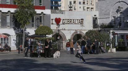 Casemates Square, en Gibraltar, el 30 de diciembre de 2020.