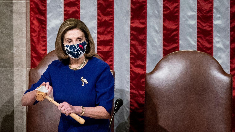 Nancy Pelosi durante la sesión del pasado miércoles en el Capitolio, en Washington.